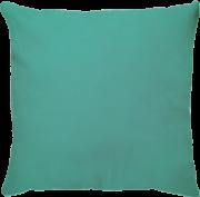 Capa de Almofada Lisa Veludo Azul Turquesa