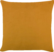 Capa de Almofada Lisa Veludo Mostarda