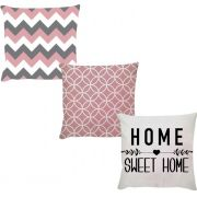 Kit 3 Capas Home Sweet Home Branco