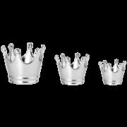 Kit Pote Coroa Prata (Cerâmica) - 3 PCS