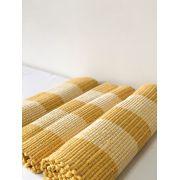 Kit Tapete P/ Cozinha 3 Pcs Amarelo