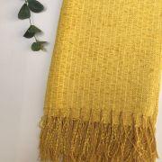 Manta para Sofá Chenille Amarelo 1,15x1,80
