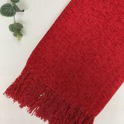Manta para Sofá Chenille Vermelho Cereja 1,15x1,80