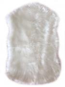 Pelego Forrado Decorativo Pelo Alto Sintético Branco