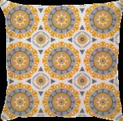 Kit 4 Almofadas Amarelo Com Enchimento