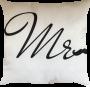 Capa de Almofada Mr Fundo Branco