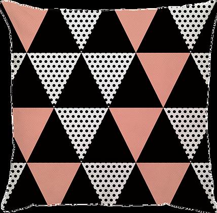 Capa de Almofada Triângulos Salmão