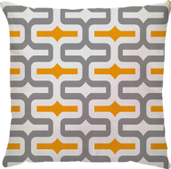 Capa de Almofada IPA Amarelo Cinza