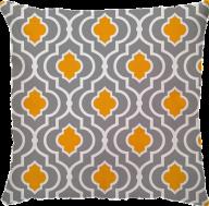 Capa de Almofada Trellis Amarelo Cinza