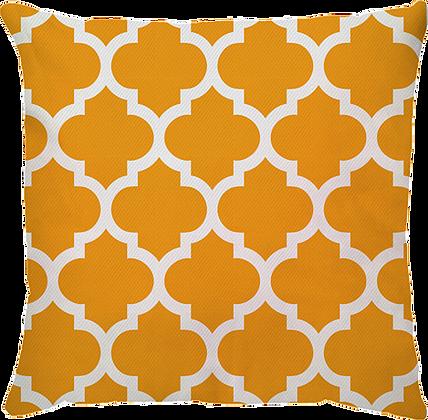 Capa de Almofada Treliça Amarelo