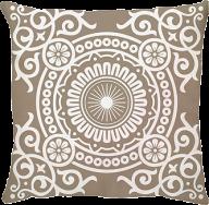 Capa de Almofada Medallion Bege