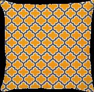 Capa de Almofada Treliça Amarelo Cinza Escuro