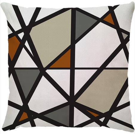 Capa de Almofada Abstrato Terracota 45x45