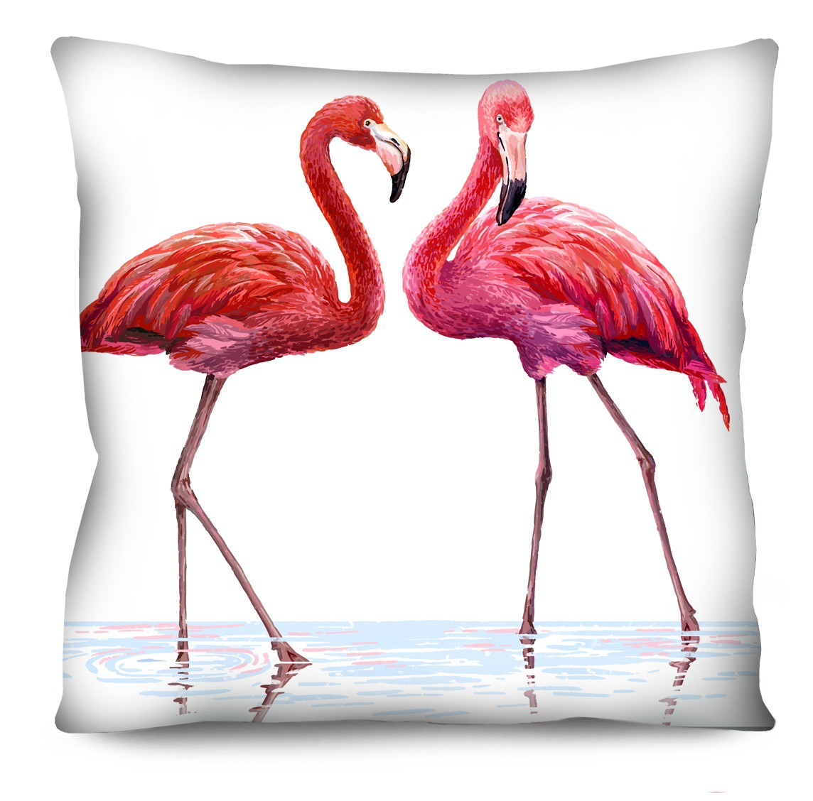 Capa de Almofada Acetinada Flamingo Rosa 50x50