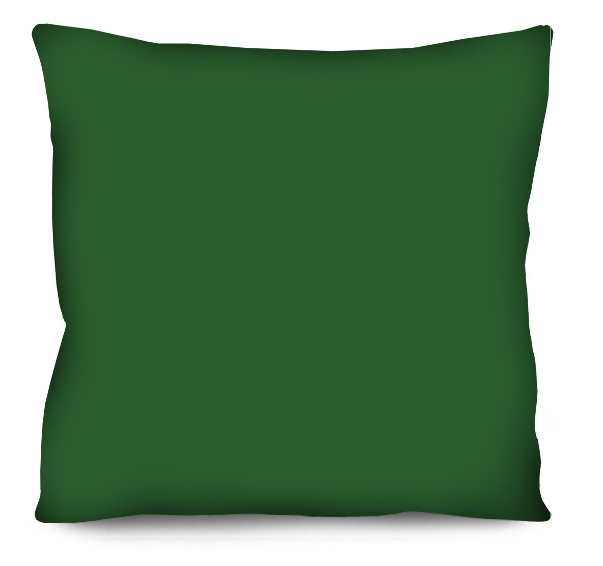 Capa de Almofada Acetinada Lisa Verde Escuro  50x50