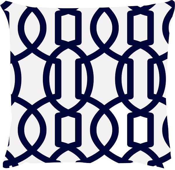 Capa de Almofada Amendoada Azul Marinho 45x45