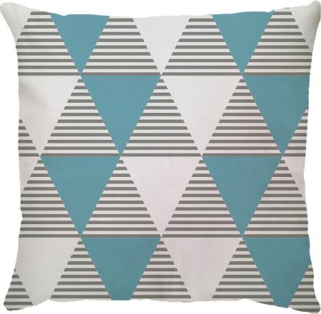 Capa de Almofada Delta Azul Cinza 45x45
