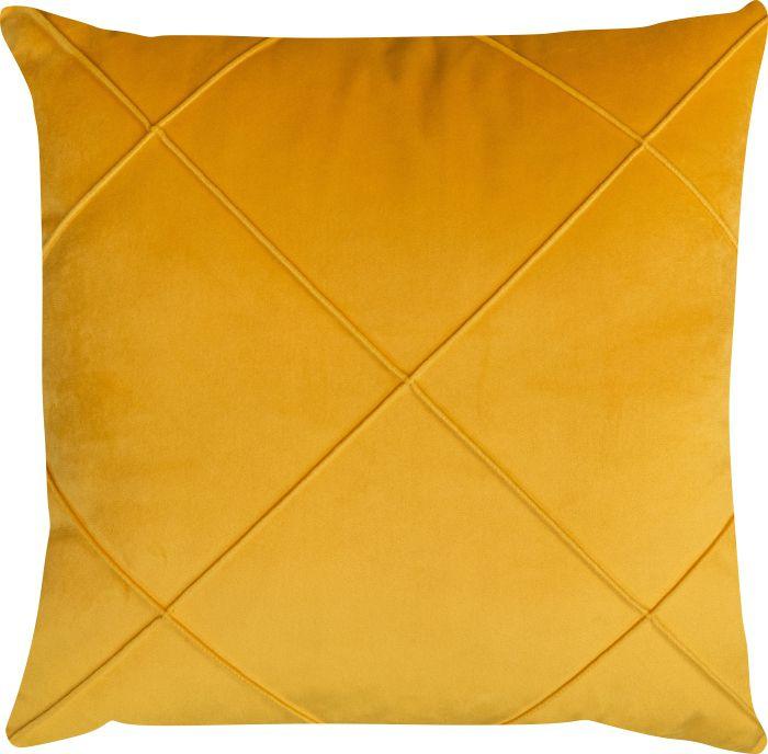 Capa de Almofada Drapeada Suede Amarelo