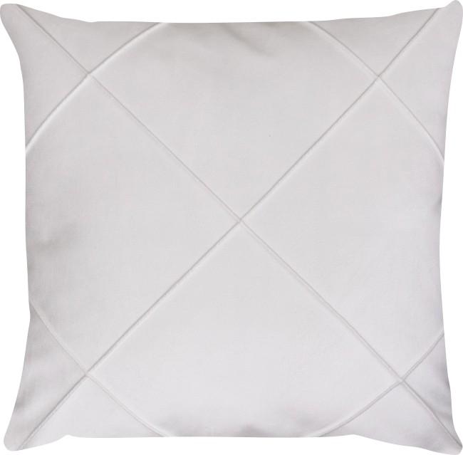 Capa de Almofada Drapeada Veludo Branco