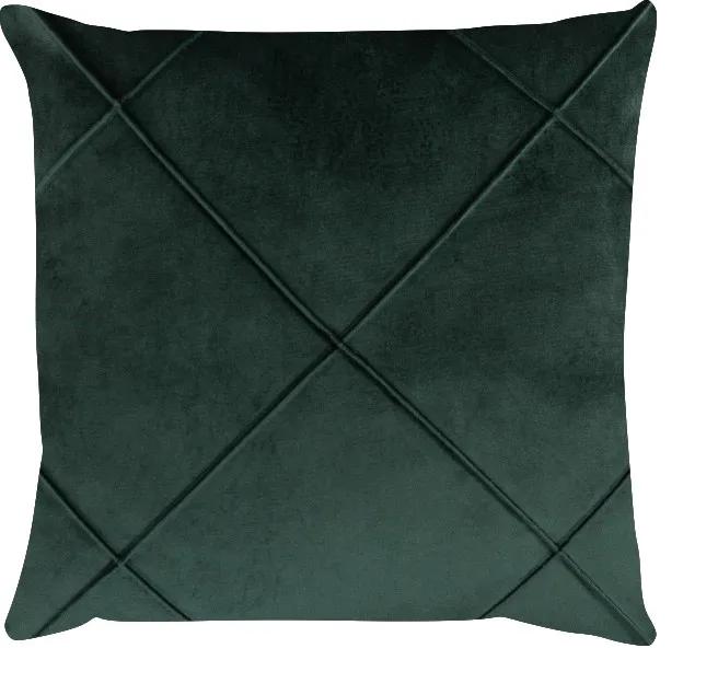Capa de Almofada Drapeada Veludo Verde 50x50