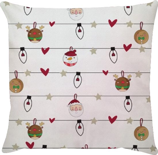 Capa de Almofada Enfeites de Natal 45x45