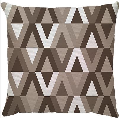 Capa de Almofada Escama Marrom 45x45