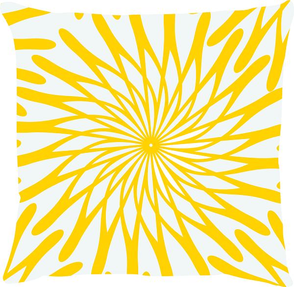 Capa de Almofada Flor Amarelo 45x45
