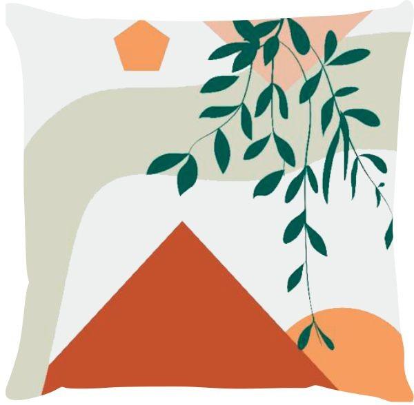 Capa de Almofada Folhagem Suspensa Terracota 45x45