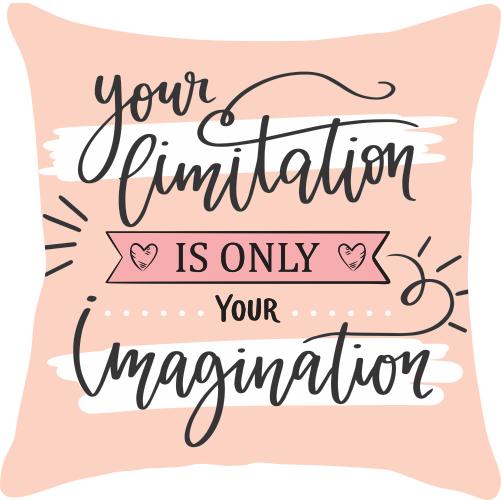 Capa de Almofada Frase Your Limitation