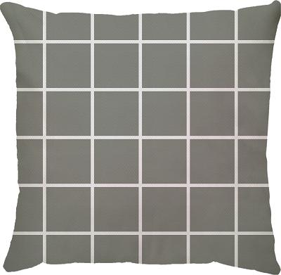 Capa de Almofada Grid Cinza 45x45