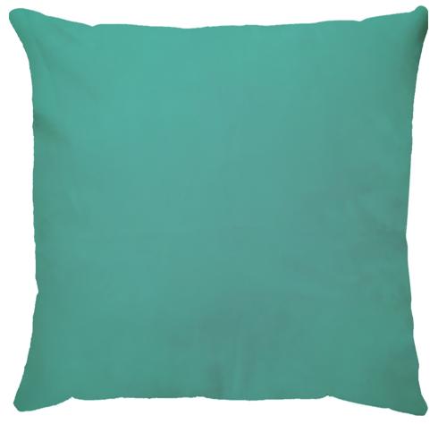 Capa de Almofada Lisa Veludo Azul Turquesa 45x45