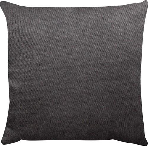 Capa de Almofada Lisa Veludo Cinza Escuro