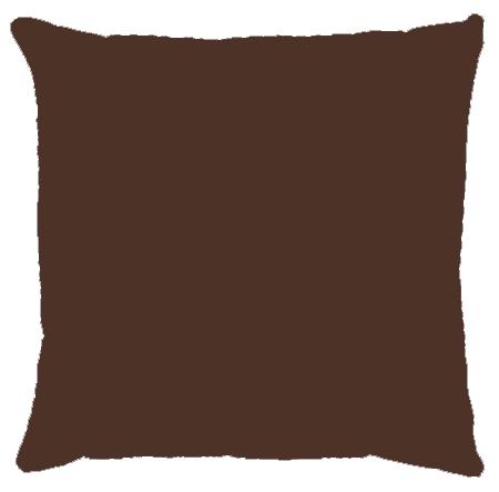 Capa de Almofada Lisa Veludo Marrom