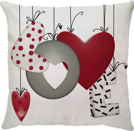 Capa de Almofada Love Balão Vermelho 45x45