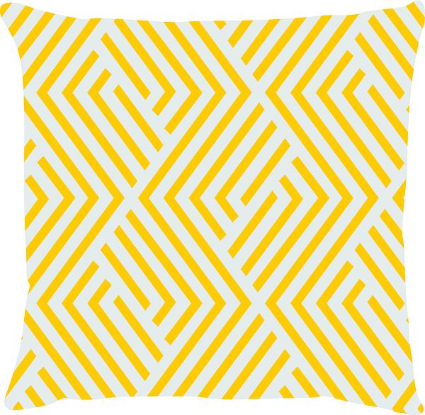 Capa de Almofada Maze Amarelo 45x45