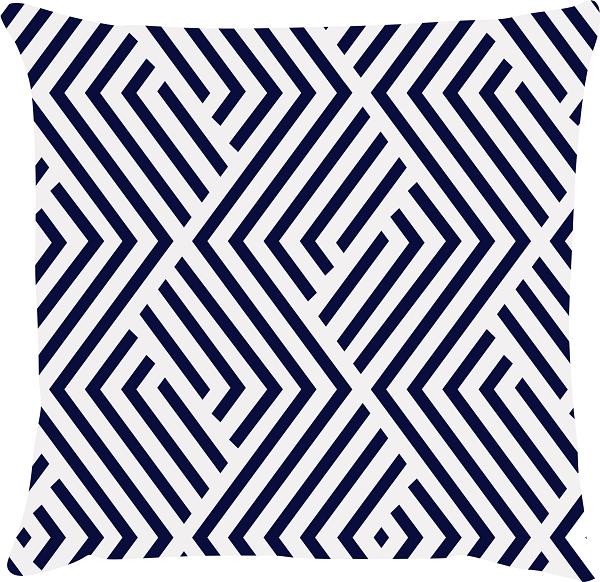 Capa de Almofada Maze Azul Marinho 45x45