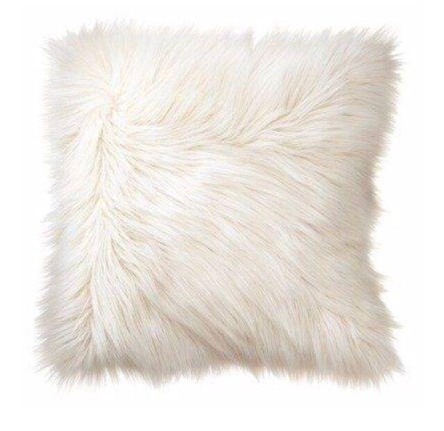 Capa de Almofada Pelúcia Sintética Branca