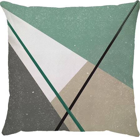 Capa de Almofada Riscos Verde 45x45