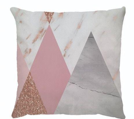 Capa de Almofada Triangles Rose Gold