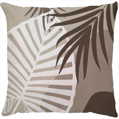 Capa de Almofada Tropical Marrom 45x45