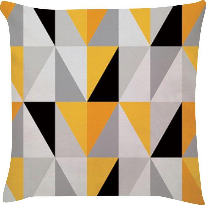 Capa de Almofada Tumblr Amarelo Cinza 45x45