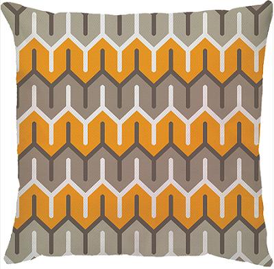 Capa de Almofada Ziggy Amarelo Bege