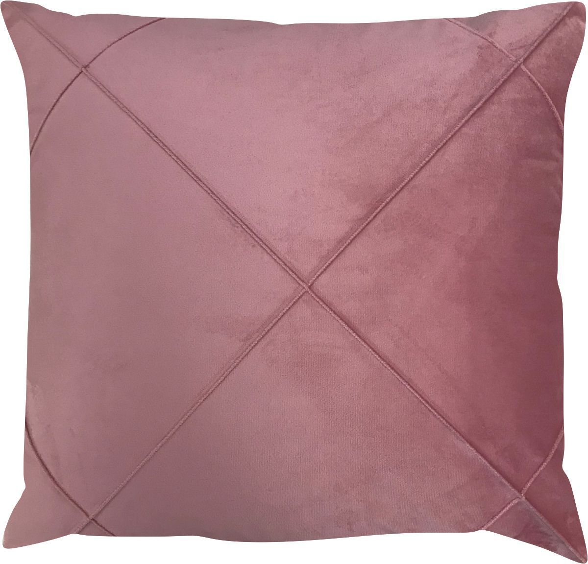 Capa de Almofada Drapeada Prism Pink Veludo