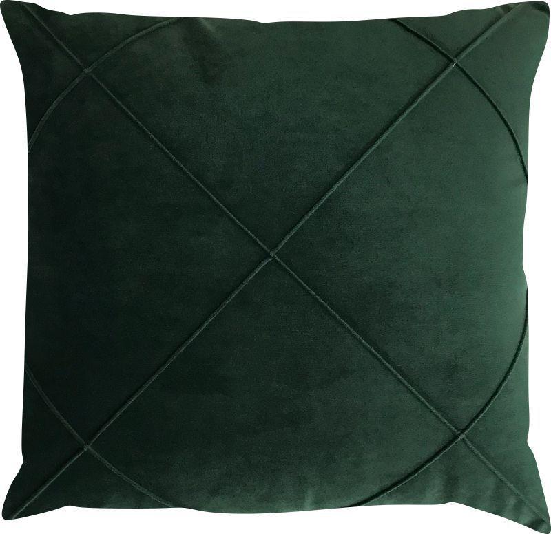 Capa de Almofada Drapeada Veludo Verde