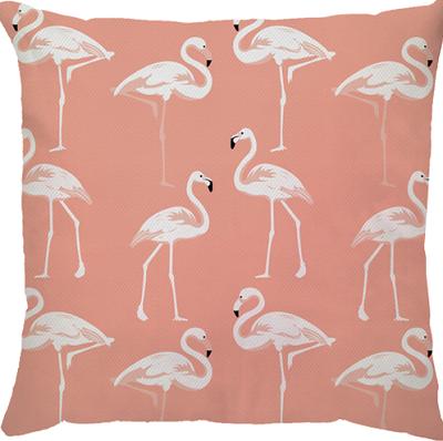 Capa de Almofada Flamingo Salmão