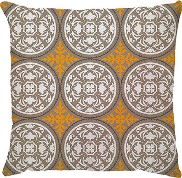 Capa de Almofada Grega Amarelo Bege
