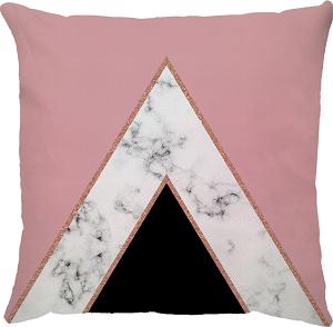 Capa de Almofada  Marble Delta Rosa