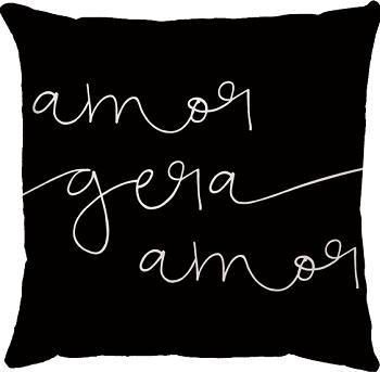 Capa de Almofada Frase Amor Gera Amor 45x45