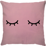 Capa de Almofada Cílios Rosa