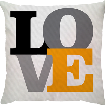 Capa de Almofada Love Amarelo